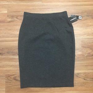 NWT Liz Claiborne Back to Work Gray Pencil Skirt